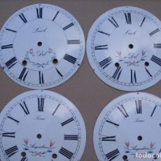 Recambios de relojes: ¡¡GRAN OFERTA !!!4 ESFERAS DE PORCELANA PARA RELOJ MOREZ DE PESAS- LOTE 5. Lote 128554783
