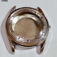Recambios de relojes: CAJA VITAGE CROMADA, EXT. 34,8.Ø - INT. CON CASQUILLO 26,0 M/M.Ø - CRISTAL NUEVO. . Lote 129014159
