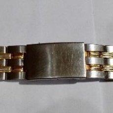 Recambios de relojes: PULSERA 20 M/M ANCHO, ACERO Y ORO , LARGO MAX.160M/M.. Lote 129017847