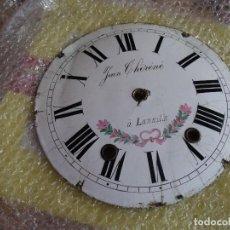 Recambios de relojes: ANTIGUA ESFERA ORIGINAL EN PORCELANA PARA RELOJ MOREZ DE PESAS- AÑO 1870. Lote 129688363