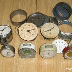 Recambios de relojes: LOTE DE DESPERTADORES PARA REPARAR O PIEZAS.. Lote 130528970