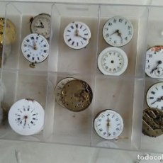 Recambios de relojes: 17 MOVIMIENTOS DE RELOJ DE BOLSILLO- LOTE 61. Lote 131734510