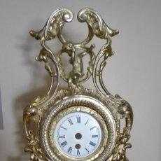 Recambios de relojes: CUERPO DE RELOJ DE BRONCE, BASE DE MARMOL SIN MAQUINARIA. Lote 142867022