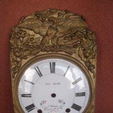Recambios de relojes: PRECIOSO FRONTAL CON ESFERA PORCELANA CON AGUILA PARA RELOJ MOREZ DE PESAS- AÑO 1880-LOTE 131. Lote 152041405