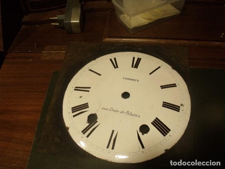 ANTIGUA ESFERA EN PORCELANA PARA RELOJ MOREZ DE PESAS- AÑO 1870- LOTE 131 (Relojes - Recambios)