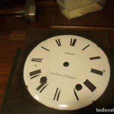 Recambios de relojes: ANTIGUA ESFERA EN PORCELANA PARA RELOJ MOREZ DE PESAS- AÑO 1870- LOTE 131. Lote 132841550