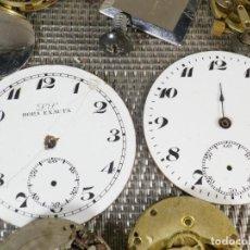 Recambios de relojes: LOTE RELOJERIA SUIZA ANTIGUA PIEZAS DE RELOJ DE BOLSILLO Y PULSERA LOTE WATCHE. Lote 132842218