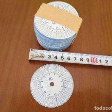 Recambios de relojes: 320 DISCOS DE MARCAJE DE RELOJ DE GUARDA, SERENO O VIGILANTE (PAQUETE DE 320 DISCOS DE PAPEL). Lote 132979054