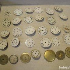 Recambios de relojes: RESTOS DE RELOJERIA-30 ESFERAS RELOJ BOLSILLO- LOTE 75. Lote 133048714