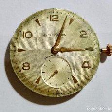 Recambios de relojes: MOVIMIENTO DE UN RELOJ ANCRE 17 RUBIS CAL. AS 1130 FUNCIONANDO, + ESFERA + AGUJAS. Lote 135359066