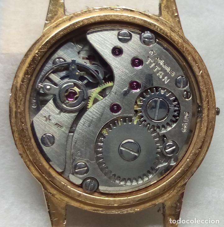 Recambios de relojes: RELOJ TITAN DE CARGA MANUAL, SWISS MADE - CAJA 2 cm. - NO FUNCIONA - Foto 3 - 136485402