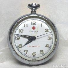 Recambios de relojes: RELOJ DE BOLSILLO FESTINA DE CARGA MANUAL, SWISS MADE - CAJA 28 MM - NO FUNCIONA. Lote 136486058