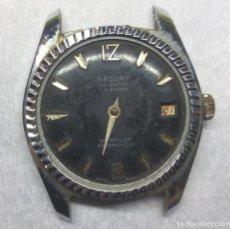 Recambios de relojes: RELOJ SECORY CARGA MANUAL 23 JEWELS SWISS MADE - PARA PIEZAS - CAJA 34 MM.. Lote 137331706