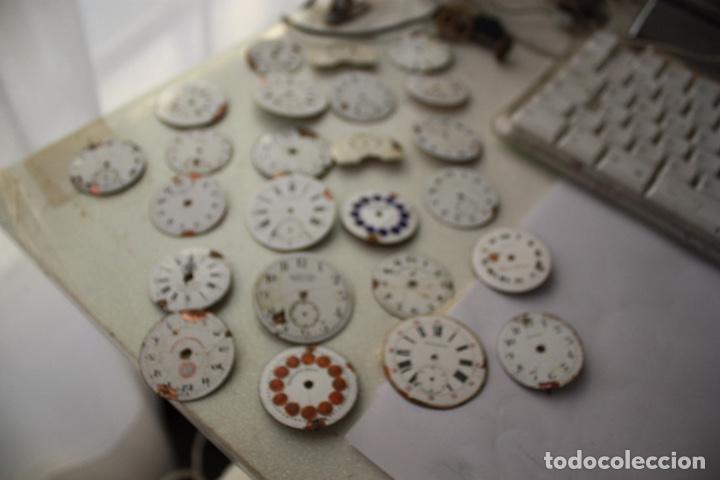 24 ESFERAS RELOJ BOLSILLO PORCELANA VARIAS MARCAS (Relojes - Recambios)