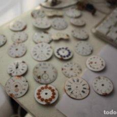 Recambios de relojes: 24 ESFERAS RELOJ BOLSILLO PORCELANA VARIAS MARCAS. Lote 137333850