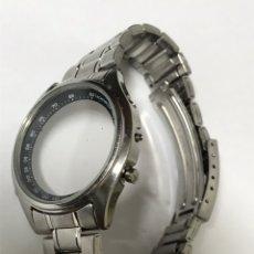 Recambios de relojes: CORRÍA Y CARCASA VINTAGE SEIKO CHRONOGRAP ORIGINAL. Lote 137446977