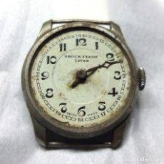Recambios de relojes: RELOJ SHOCK PROOF LEVER DE CARGA MANUAL, SWISS MADE - CAJA 32 MM - PARA PIEZAS. Lote 138032670