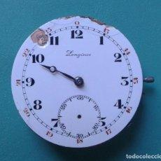 Recambios de relojes: ANTIGUA MAQUINA PARA RELOJ DE BOLSILLO LONGINES CAL. 18.50. Lote 138568046