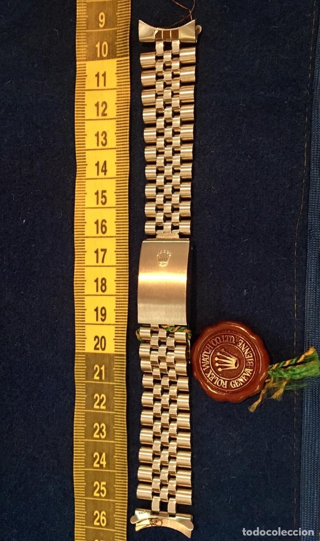 CORREA ARMIS ROLEX JUBILEO ORIGINAL NOS (Relojes - Recambios)