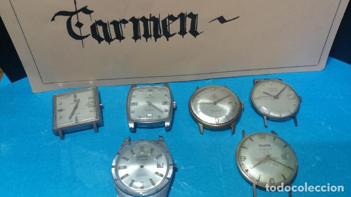 Recambios de relojes: Lote de 6 relojes automaticos para reparar o piezas, aunque parecen quieren andar - Foto 2 - 138985938