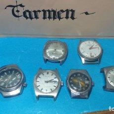 Recambios de relojes: LOTE DE 6 RELOJES A CUERDA, 4 PARA AJUSTAR MARCHA Y 2 PARA REPARAR O PIEZAS. Lote 138992038