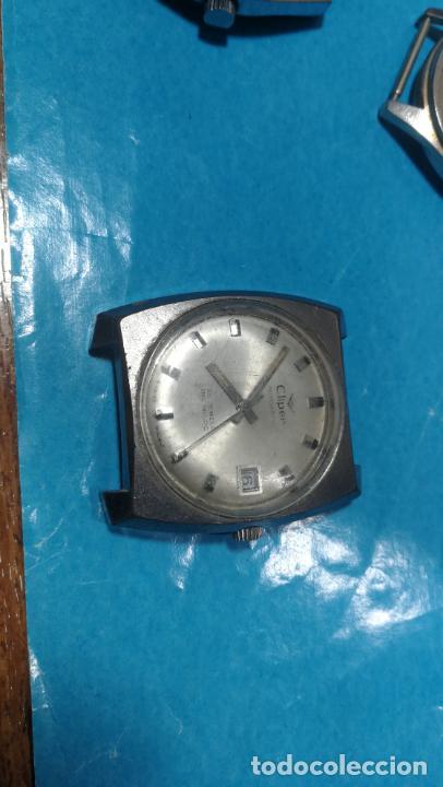 Recambios de relojes: Lote de 6 relojes a cuerda, 4 para ajustar marcha y 2 para reparar o piezas - Foto 4 - 138992038