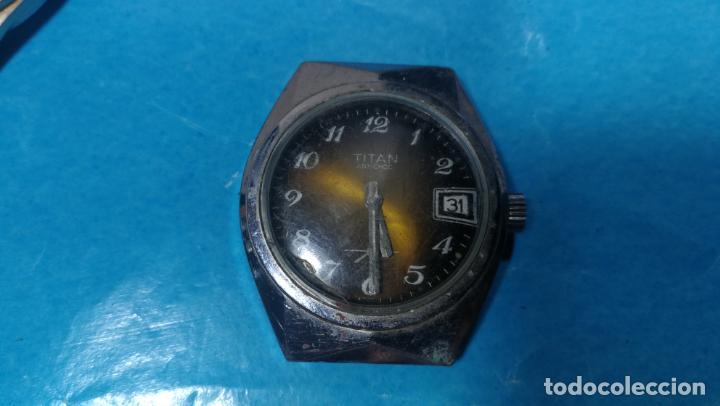 Recambios de relojes: Lote de 6 relojes a cuerda, 4 para ajustar marcha y 2 para reparar o piezas - Foto 6 - 138992038