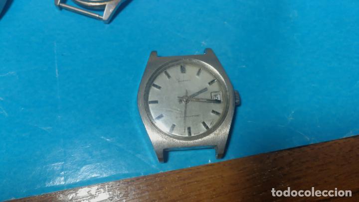Recambios de relojes: Lote de 6 relojes a cuerda, 4 para ajustar marcha y 2 para reparar o piezas - Foto 9 - 138992038