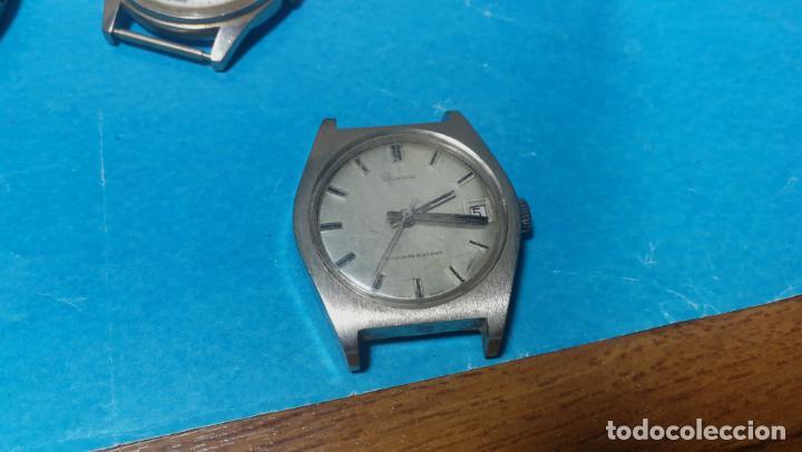 Recambios de relojes: Lote de 6 relojes a cuerda, 4 para ajustar marcha y 2 para reparar o piezas - Foto 10 - 138992038