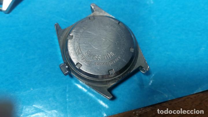 Recambios de relojes: Lote de 6 relojes a cuerda, 4 para ajustar marcha y 2 para reparar o piezas - Foto 11 - 138992038