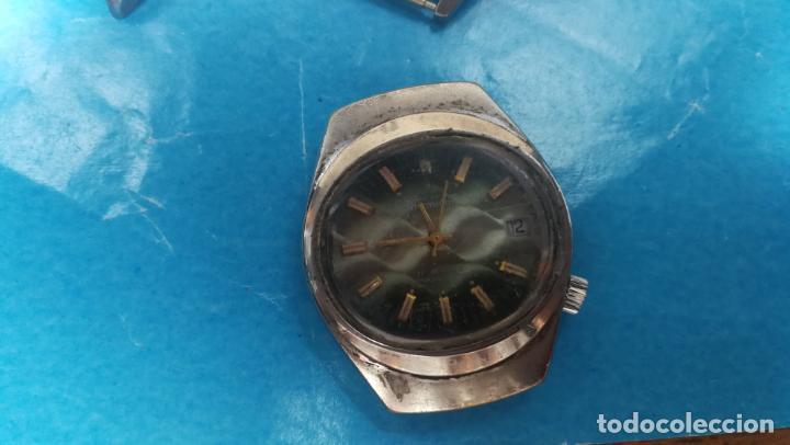 Recambios de relojes: Lote de 6 relojes a cuerda, 4 para ajustar marcha y 2 para reparar o piezas - Foto 14 - 138992038