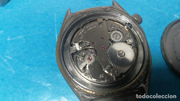 Recambios de relojes: Lote de 6 relojes a cuerda, 4 para ajustar marcha y 2 para reparar o piezas - Foto 17 - 138992038