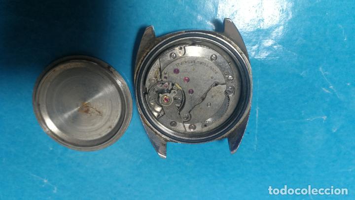 Recambios de relojes: Lote de 6 relojes a cuerda, 4 para ajustar marcha y 2 para reparar o piezas - Foto 22 - 138992038
