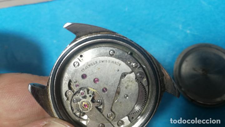 Recambios de relojes: Lote de 6 relojes a cuerda, 4 para ajustar marcha y 2 para reparar o piezas - Foto 25 - 138992038