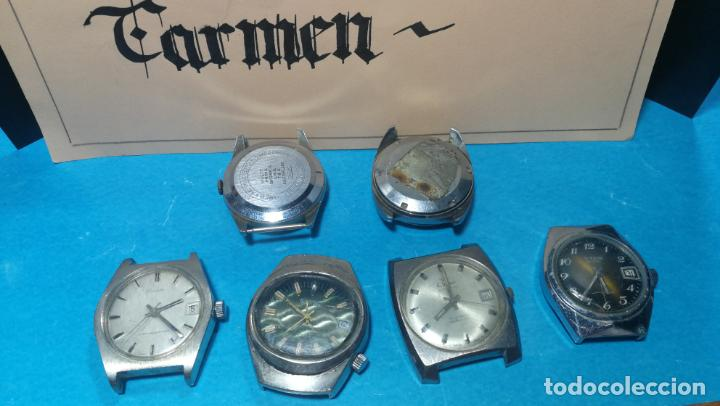 Recambios de relojes: Lote de 6 relojes a cuerda, 4 para ajustar marcha y 2 para reparar o piezas - Foto 26 - 138992038