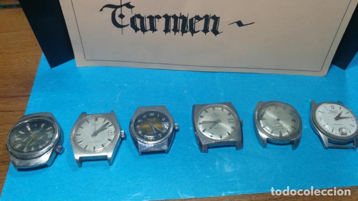 Recambios de relojes: Lote de 6 relojes a cuerda, 4 para ajustar marcha y 2 para reparar o piezas - Foto 27 - 138992038