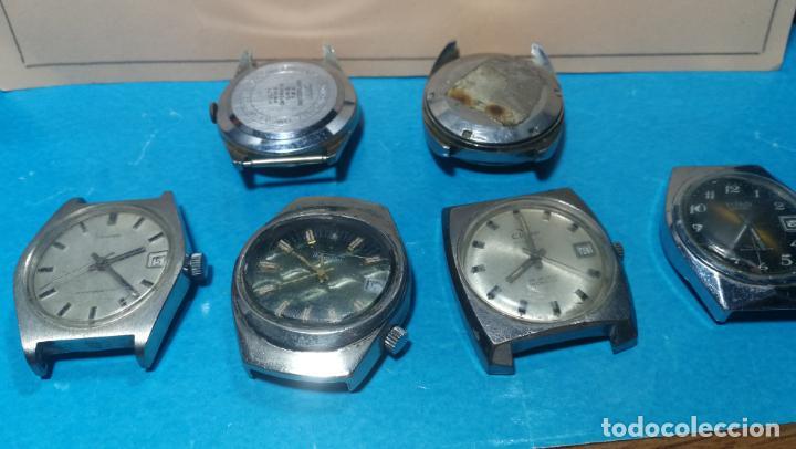 Recambios de relojes: Lote de 6 relojes a cuerda, 4 para ajustar marcha y 2 para reparar o piezas - Foto 28 - 138992038