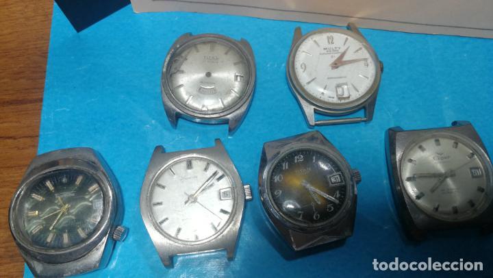 Recambios de relojes: Lote de 6 relojes a cuerda, 4 para ajustar marcha y 2 para reparar o piezas - Foto 29 - 138992038