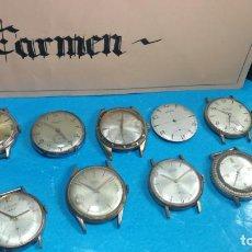 Recambios de relojes: BOTITO LOTE DE 9 RELOJES ANTIQUES A CUERDA PARA REPARAR O PARA PIEZAS. Lote 138994482