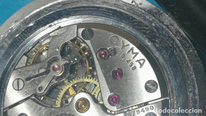 Recambios de relojes: RELOJ CYMA R-458, aunque funciona, atrasa, por tanto para reparar o restaurar - Foto 25 - 138997018