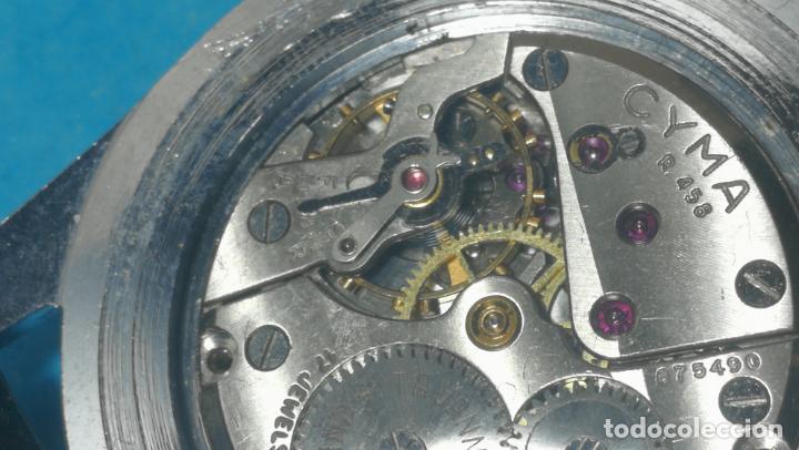 Recambios de relojes: RELOJ CYMA R-458, aunque funciona, atrasa, por tanto para reparar o restaurar - Foto 31 - 138997018