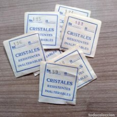 Recambios de relojes: LOTE 7 CRISTAL CRISTALES RELOJ - RECAMBIO RELOJES (5). Lote 139229266