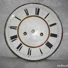Recambios de relojes: ESFERA DE PORCELANA PARA RELOJ GRANDE. Lote 139244650