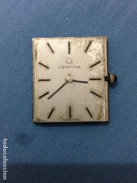 MAQUINARIA DE RELOJ CERTINA CUADRO (Relojes - Recambios)