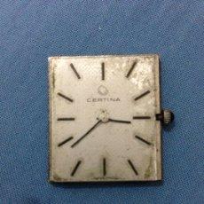 Recambios de relojes: MAQUINARIA DE RELOJ CERTINA CUADRO. Lote 139306250