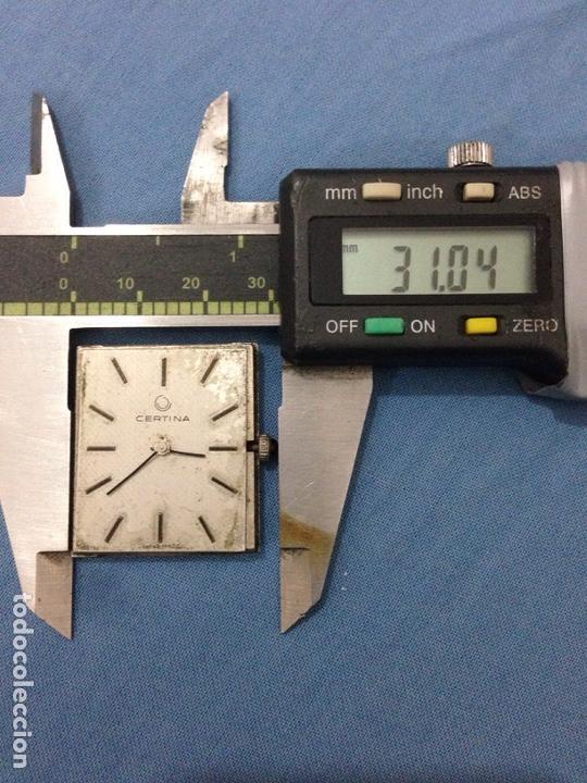 Recambios de relojes: Maquinaria de reloj certina cuadro - Foto 3 - 139306250