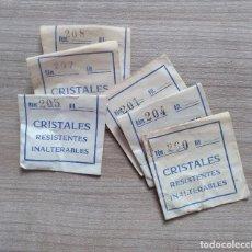 Recambios de relojes: LOTE 6 CRISTALES RELOJES - RECAMBIO CRISTAL PARA RELOJ (8). Lote 139648394