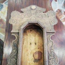 Recambios de relojes: CAJA DE MADERA PARA RELOJ DE PARED. Lote 144081166