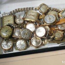 Recambios de relojes: LOTE DE 23 RELOJES ESTÁN SIN COMPROBAR POR TANTO PARA REPARAR, REPASAR O PIEZAS. Lote 140277198