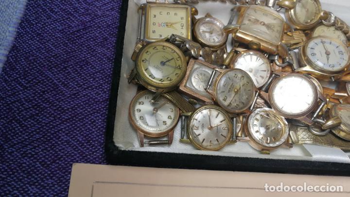 Recambios de relojes: Lote de 23 relojes están sin comprobar por tanto para reparar, repasar o piezas - Foto 4 - 140277198